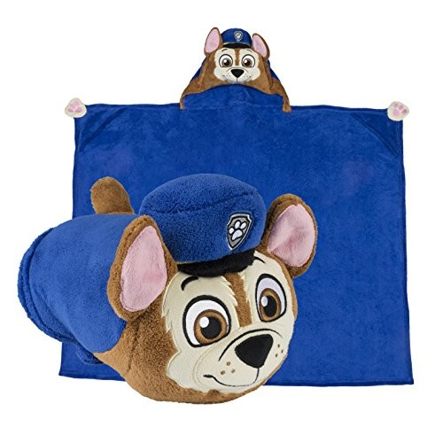 Comfy Critters Stuffed Animal Blanket Paw Patrol Chase Kids