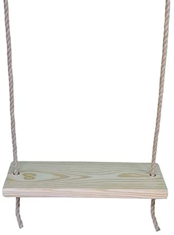 Southern Pine 24 Inch 2 Hole Wooden Tree Swing - Wooden Rope Kids Adult Outdoor Indoor Wood Swings