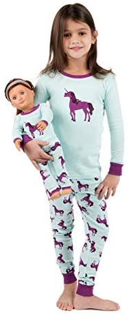 Leveret Kids & Toddler Pajamas Matching Doll & Girls Pajamas 100% Cotton 2 Piece Pjs Set (Size 2 Toddler-14 Years)