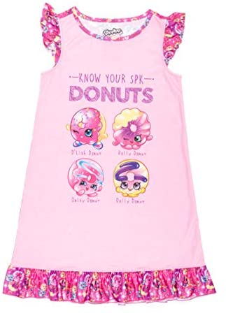 Shopkins Girls Dolls Donuts Nightgown Sleep Shirt Pajamas