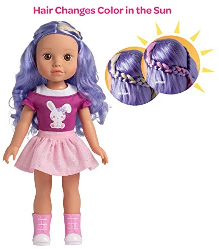 Adora Be Bright Doll, 14 inch Doll Lulu - Bunny, Hair Color Changes in The Sun, for Kids Age 3+