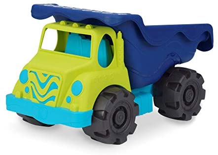 "B. toys by Battat Colossal Cruiser – 20"" Large Sand Truck – Beach Toy Dump Trucks for Kids 18 M+ (Lime/Navy), led-anti-stress-ball-125 (BX1429C1Z)"