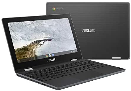 """ASUS Chromebook Flip C214 2-In-1 Laptop-11.6"""" Ruggedized and Spill Resistant Design with 360 Degree Touchscreen, Intel N4000, 4GB LPDDR4 RAM, 32GB Storage, Chrome OS, Built-In Stylus- C214MA-YS02T-S"""