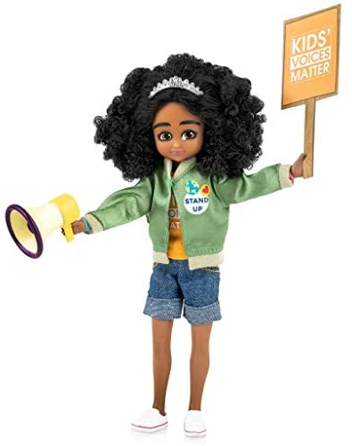 Lottie Kid Activist Doll | Cute Black Dolls for Girls & Boys Outfit | Doll On A Mission! | for 6 Year Old and up! Cute Black Doll Inspired by Real-Life Kid Activist, Mari Copeny. Wears