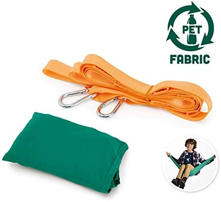 Hape Pocket Swing| Green Portable Hammock for Kids, Outdoor Children'S Swinging Chair, Easy Attach Mechanism for Ages 5+, 220 Lb Weight Capacity