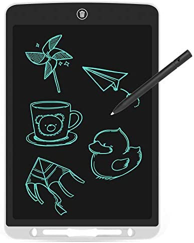 12 inch LCD Writing Tablet, Electronic Handwriting Pad for Drawing & Taking Note, Doodle Board Gifts for Kids and Adults at Home, School and Office (White)