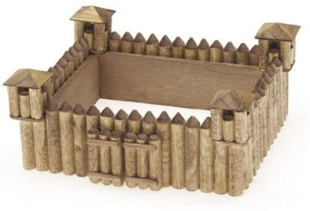Darice Unfinished Fort Wood Craft Kit (Unfinished When Fully Assembled)