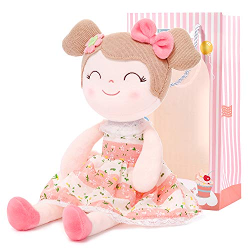 Gloveleya Baby Doll Baby Girl Gifts Cloth Dolls Kids Plush Toys 16.5'' with Box