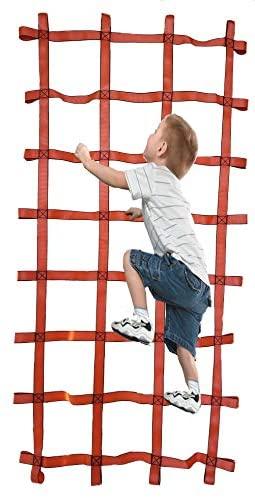 FONG FONG Climbing Net Indoor/Outdoor 7 ft X 4 ft (90 Inch x 48 Inch) - Playground Cargo Net - Climbing Net for Swingset- Cargo Net for Kids - Ninja Net Climbing