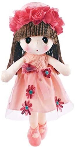 HWD Kawaii Flower Fairy Stuffed Soft Plush Toy Doll Girls Gift , 18 Inch ( Pink )