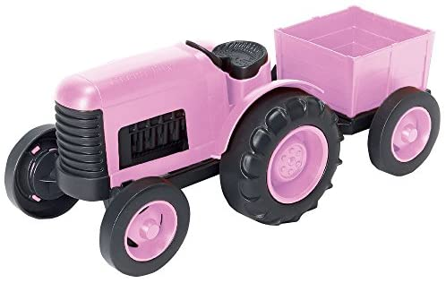 Green Toys Tractor Vehicle Toy, Pink, 11.75