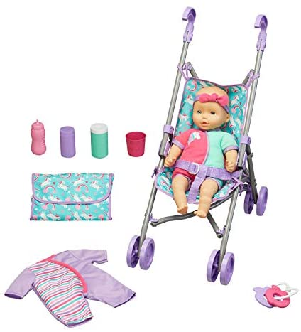 Kid Connection Baby Doll Stroller Play Set (1)