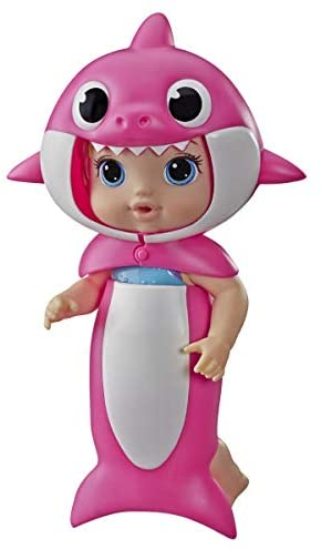 Baby Alive, Baby Shark Blonde Hair Doll, with Tail & Hood, Inspired by Hit Song & Dance, Waterplay Toy for Kids Ages 3 Years Old & Up (Amazon Exclusive), Pink