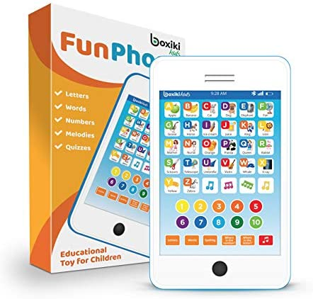 Learning Pad / Kids Phone with 6 Toddler Learning Games. Touch and Learn Toddler Tablet for Numbers, ABC and Words Learning. Educational Learning Toys for Boys and Girls - 18 Months to 6 Year Old