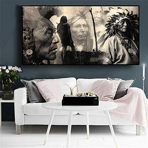 5D Diamond Painting Full Drill Large Indian Native DIY Kits for Adults Kids Crystal Rhinestone Arts Craft for Home Wall Decor Square Drill 80x220cm H8382