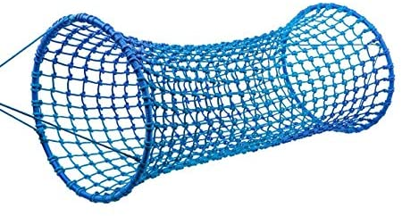 HearthSong Blue Wave Hanging Woven Rope Tunnel, Approx. 6'L x 35