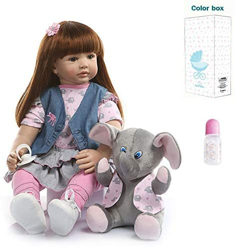 Zero Pam Reborn Toddlers Girls with Small Blue Coat Soft Body Silicone Reborn Baby Dolls Vinyl Realistic Newborn Baby Girls Birthday Gifts