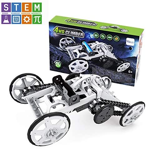 Nrbecurn Stem Projects for Kids, 4WD DIY Car Assembly Kit Climbing Vehicle for Boys and Teens 7 8 10 Years Old, Science Experiments, Circuit Building Toys for Teens