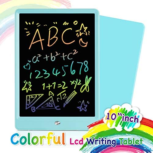 Orsen LCD Writing Tablet 10 Inch, Colorful Doodle Board Drawing Tablet, Erasable Reusable Writing Pad, Educational Boys Girls Toys Gifts for 2-6 Year Old Girls Boys(Blue)