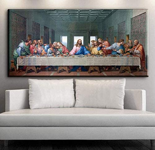 5D Diamond Painting by Number Kits,Large Size,Full Drill,Yolaga DIY Rhinestone Embroidery The Last Supper Mosaic Art Cross Stitch Craft for Home Wall Decor,Square Drill,80x220cm