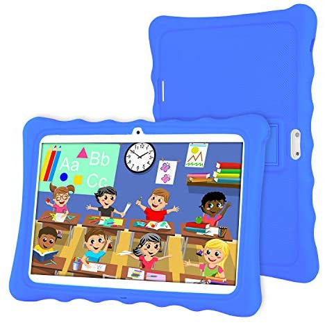 Tablet 10 inch,LAMZIEN Kids Tablet,Android 8.1 Quad-Core 1.8Ghz 2GB RAM 32GB Storage 1280x800 IPS Display 3G Dual-SIM Kids Software Pre-Installed,Blue
