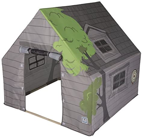 Pacific Play Tents 69790 Kids Tree House Hide-Away Wood Pole Frame Playhouse, 43