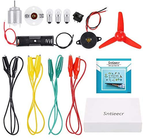 Sntieecr Electric Circuit Motor Kit, Educational Montessori Learning Kits for Kids DIY STEM Science Project