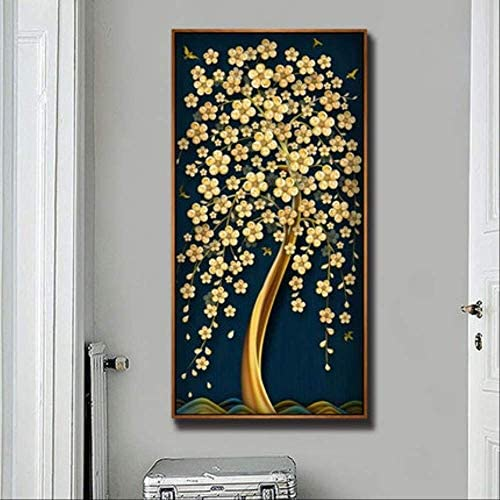 DIY Diamond Painting Cross Stitch Painting Cash Cow Tree Rich Tree Diamond Embroidered Living Room Aisle Corridor 100X200Cm