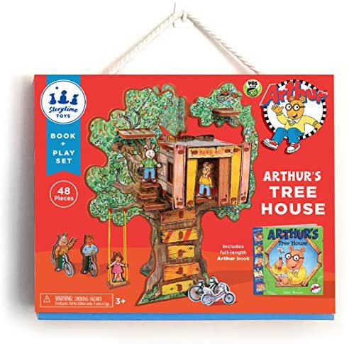 STORYTIME TOYS Arthur's Treehouse Toy Set and Book, PBS Kids Toys; Take Apart STEAM Educational Toys
