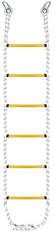letsgood 7.2ft Climbing Rope Ladder with 2 Carabiners for Kids and Adults - Sturdy Playground Accessories for Tree House, Swing Set - Outdoor Indoor Play Set for Boys Girls