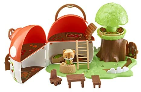 Fat Brain Toys Timber Tots Mushroom Surprise Dolls & Dollhouses for Ages 2 to 5