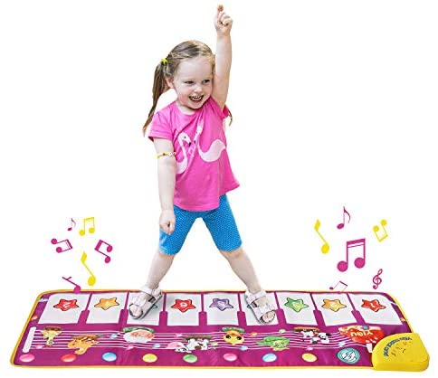 ZHIHUAN Piano Mat Toys Toys for Girls 1-8 Years Old,Musical Keyboard Playmat Toys for 2-9 Year Olds Electronic Music Carpet for Toddlers Girls 3-7 Years Old Birthday Gifts