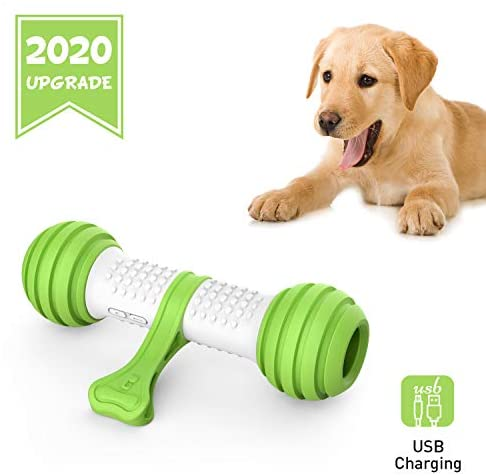 PETGEEK Electronic Dog Toy Automatic Dog Bone Toy, Dog Entertainment Toys Interactive Bone & Interactive Toys for Dogs Large/Medium, Safe Material PC&TPE