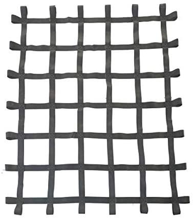 FONG Climbing Cargo Net Black 6 ft X 5 ft (72 inch x 60 inch) - Playground Cargo Net - Climbing Net for Swingset - Indoor Climbing Net - Climbing Ladder