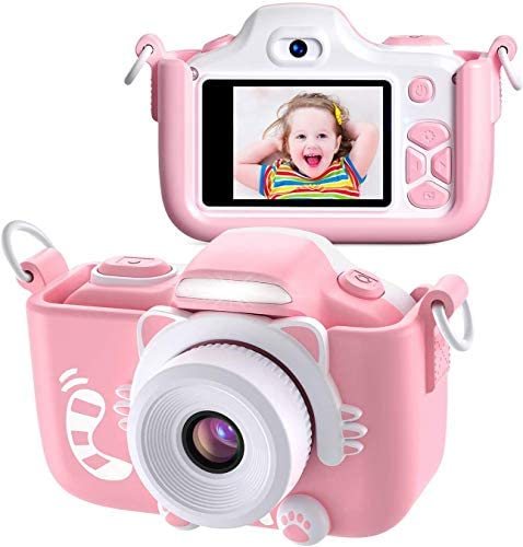 Twinto Kids Camera, Digital Camera Selfie and Video Camera with 12MP/ HD 1080P/ Dual Lens/ 2.0 inch Screen/ 256M Micro SD Card, Birthday Gift for Boys Girls
