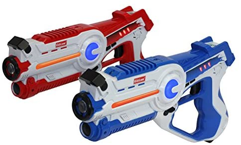 Kidzlane Infrared Laser Tag Game - Set of 2 Blue/Red - Infrared Laser Gun Indoor and Outdoor Activity. Infrared 0.9mW