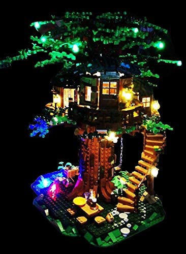 brickled LED Lighting Kit for Lego 21318 Ideas Tree House (Lego Set not Included)