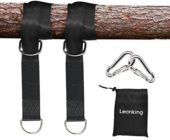 Leanking 2 PCS Tree Swing Straps Tree Swing Hanging Kit Holds Max 2000 LB with Two Heavy Duty Carabiners (Stainless Steel) for Swing Seat, Plank, Camping Hammock
