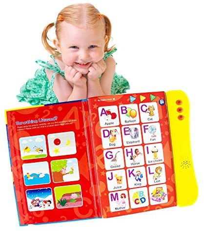 ABC Sound Book for Children. English Letters & Words learning toys for 3 year olds, Fun Educational Toys. Activities With Numbers, Shapes, Colors and Animals for Toddlers. Gift for Girls and Boys