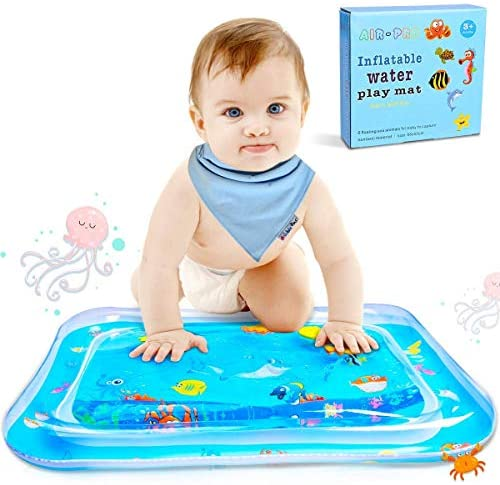LEEHUR Tummy Time Baby Water Mat Infant Toy Inflatable Play Mat for 3 6 9 Months Newborn Boy Girl
