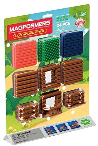 Magformers Log House Pack 24Pc Set