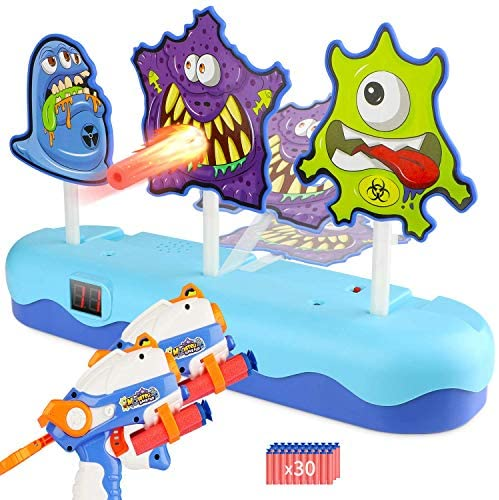 EKOOS Monster Shooting Target for Nerf Electronic Scoring Auto Reset Digital Targets for Shooting Practice, Ideal Gift Toy for Kids Boys & Girls