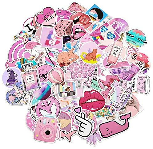 Cute Waterproof Aesthetic Trendy Stickers for Teens,Girls and Women Fits Water Bottle Laptop,Phone,Pad,Guitar,Bike,Luggage 103 pcs